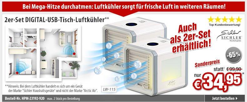 33 cm Kühler: Schlanker Turm-Ventilator USB-Strom 2 Geschwindigkeits-Stufen