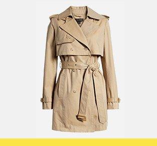 Women's Halogen trench coat.