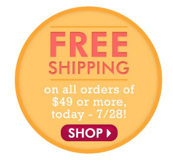 Free Shipping on orders of $49 or more