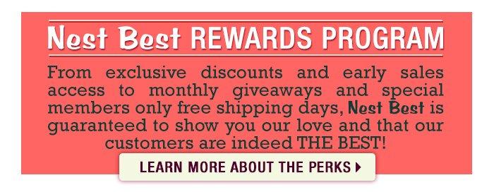 Nest Best Rewards Loyalty Program