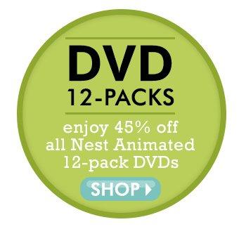45% off Nest Animated DVD 12-Packs