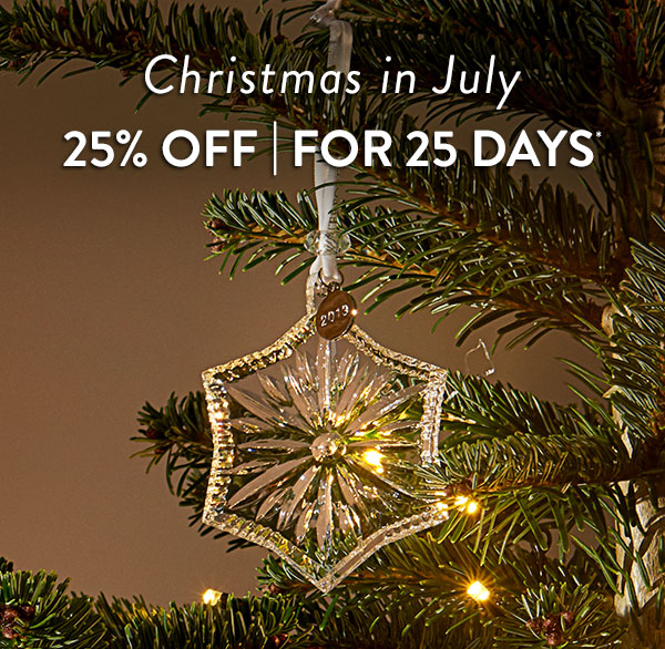 Christmas in July 25% Off Select Items