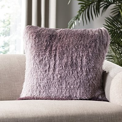 Venice Shag Pillow Lilac