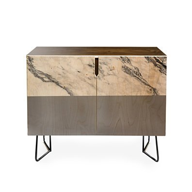 Kelly Haines Gray Marble Credenza