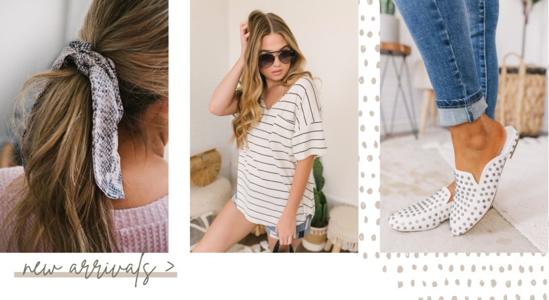 striped tee white studded mules