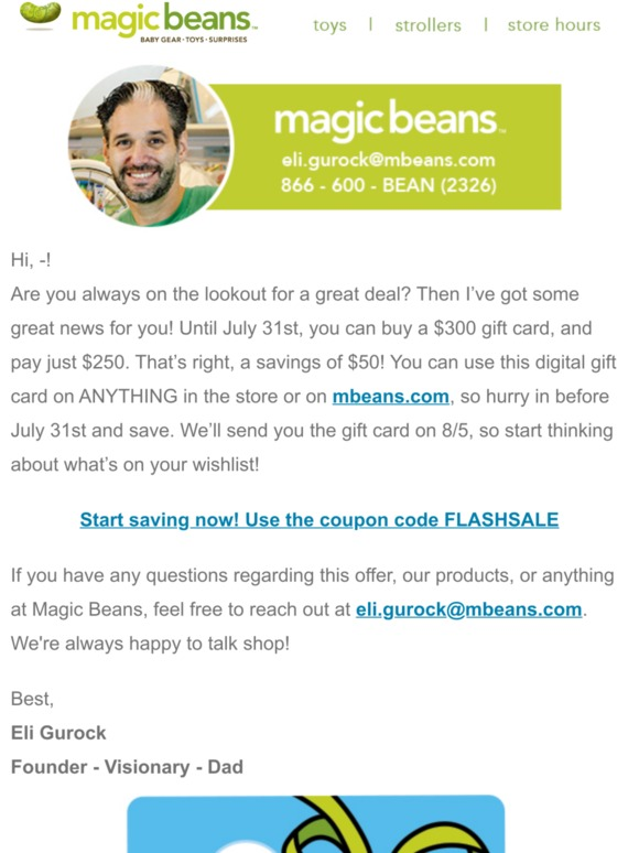 Magic Beans Coupon & Promo Codes