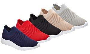Henry Ferrera Women's Slip-On Fly-Knit Athletic Fashion Sneakers