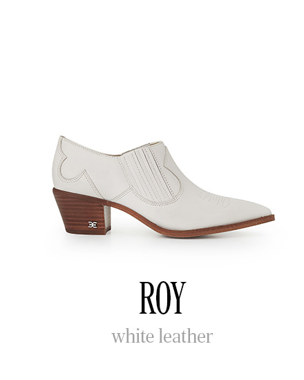 ROY white leather