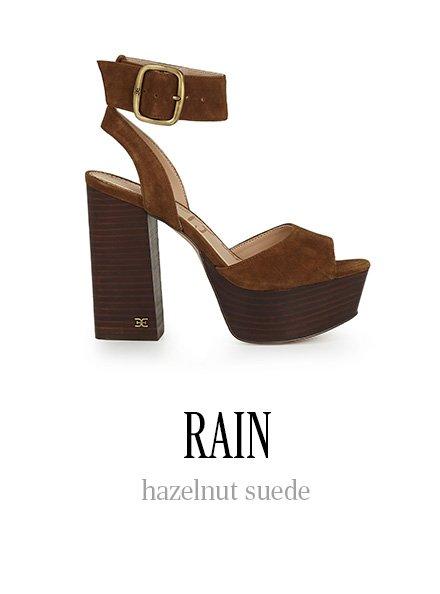 RAIN hazelnut suede