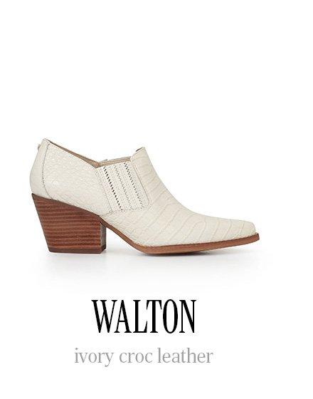 WALTON ivory croc leather