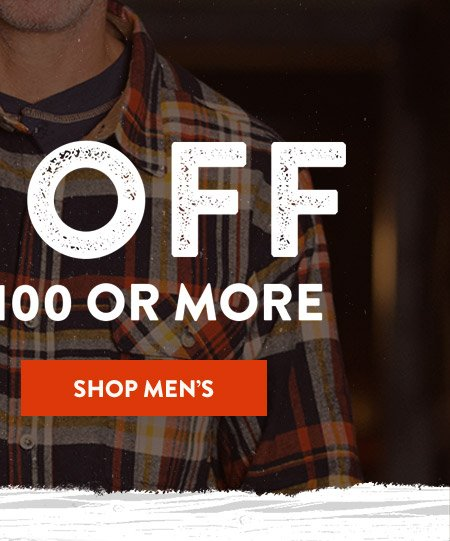 Shop Men's - 20% Off Orders Of $100 Or More
