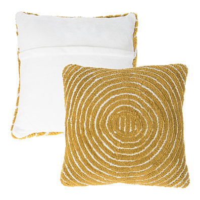 Accent Throw Pillow 18 Inch Cosmic Circle Design Removable Cover Decorative Ochre Sand