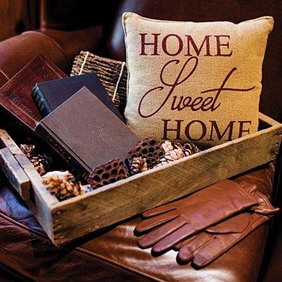 Farmhouse Decor Home Sweet Home Tan 12x12 Pillow