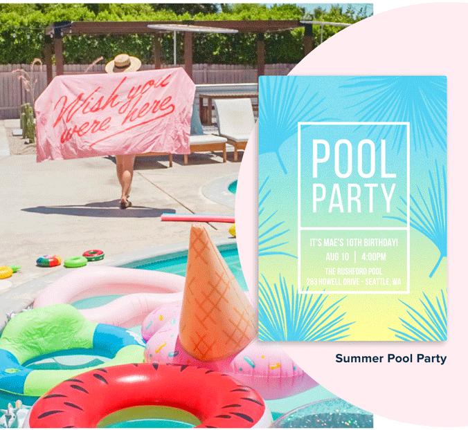 Pool or Beach Party Idea