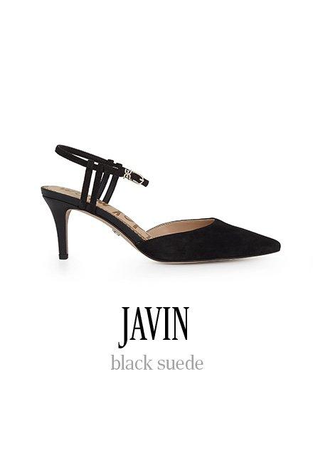 JAVIN black suede