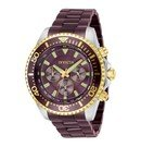 Invicta Pro Diver Mens Quartz 47 mm Stainless Steel, Gold Case Coffee Dial