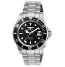 Invicta Pro Diver Mens Quartz 40 mm Stainless Steel Case Black Dial