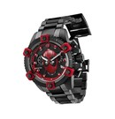 Invicta Marvel Limited Edition Deadpool Mens Quartz 48 mm Black Case Black, Red Dial