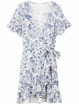 Cameli Mini Wrap Dress