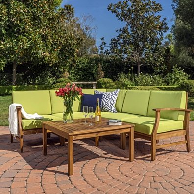 Capri 6pc Outdoor Sofa Set w/ Cushions