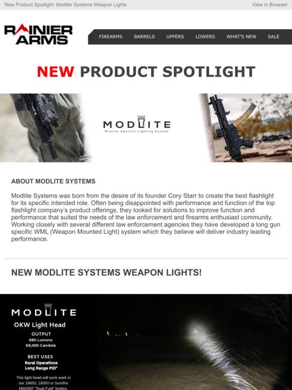 Rainier Arms: NEW Product Spotlight: Modlite Systems Weapon