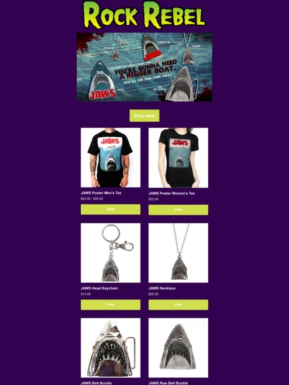 "/""You/'re Gonna Need A Bigger Boat/"" Jaws Motel Keychain"