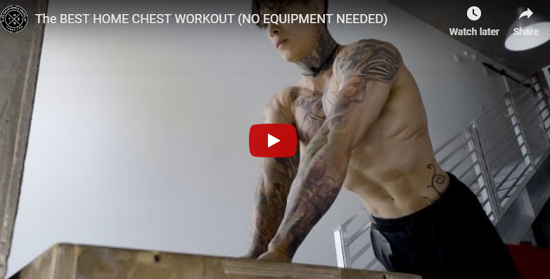 Bodeaz com INT: THE BEST HOME 🏠 CHEST WORKOUT 💪🏋️ | Milled
