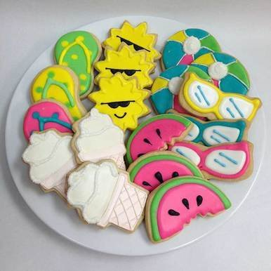 Image of Day at the Beach Hand Decorated Cookies