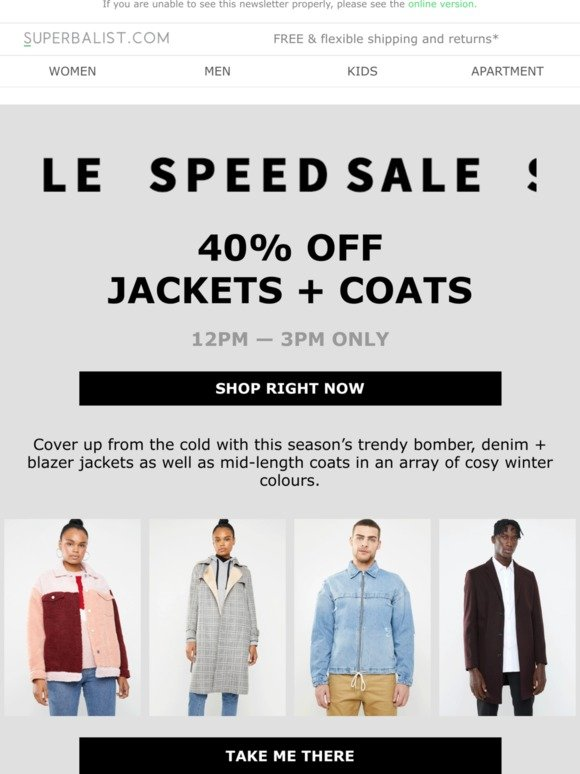 0a5095beea8 Spree: SPEED SALE ⏰ 40% OFF jackets + coats ⏰ | Milled