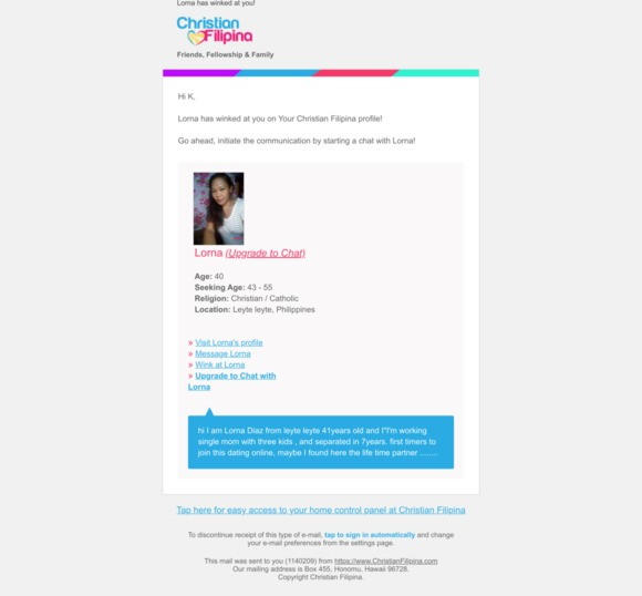 Christian Filipina online dating leuke dating sites UK
