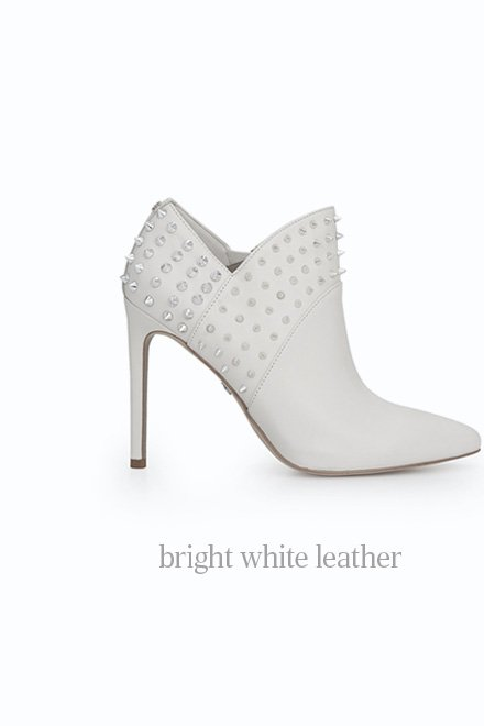 bright white leather