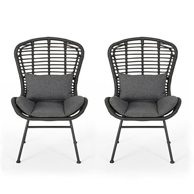 Qearl Outdoor Club Chairs (Set of 2)