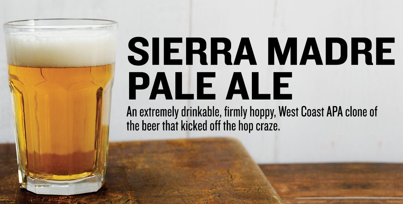 Sierra Madre Pale Ale Extract Beer Recipe Kit