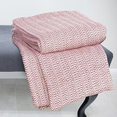 Lavish Home Chevron 100% Cotton Luxury Soft Blanket - Twin - Brick