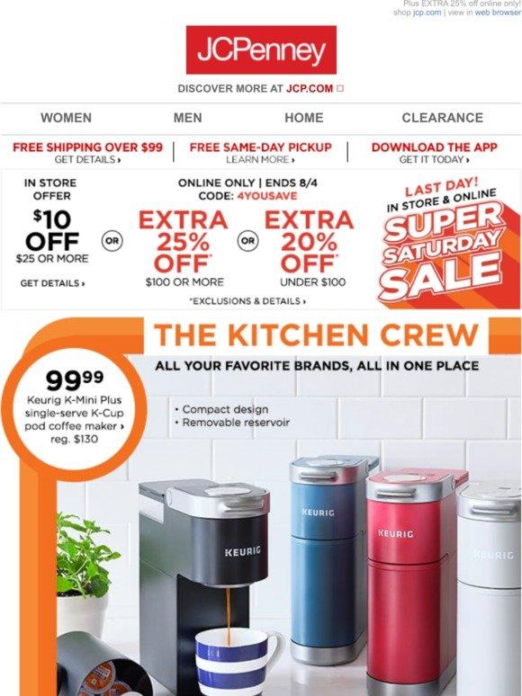 JC Penney: Drip, drip, price DROP! $99 99 Keurig coffee