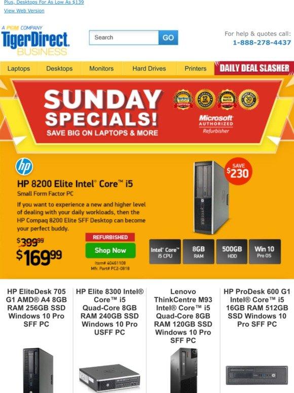 TigerDirect: Sunday PC Bonanza! HP EliteBook Laptops