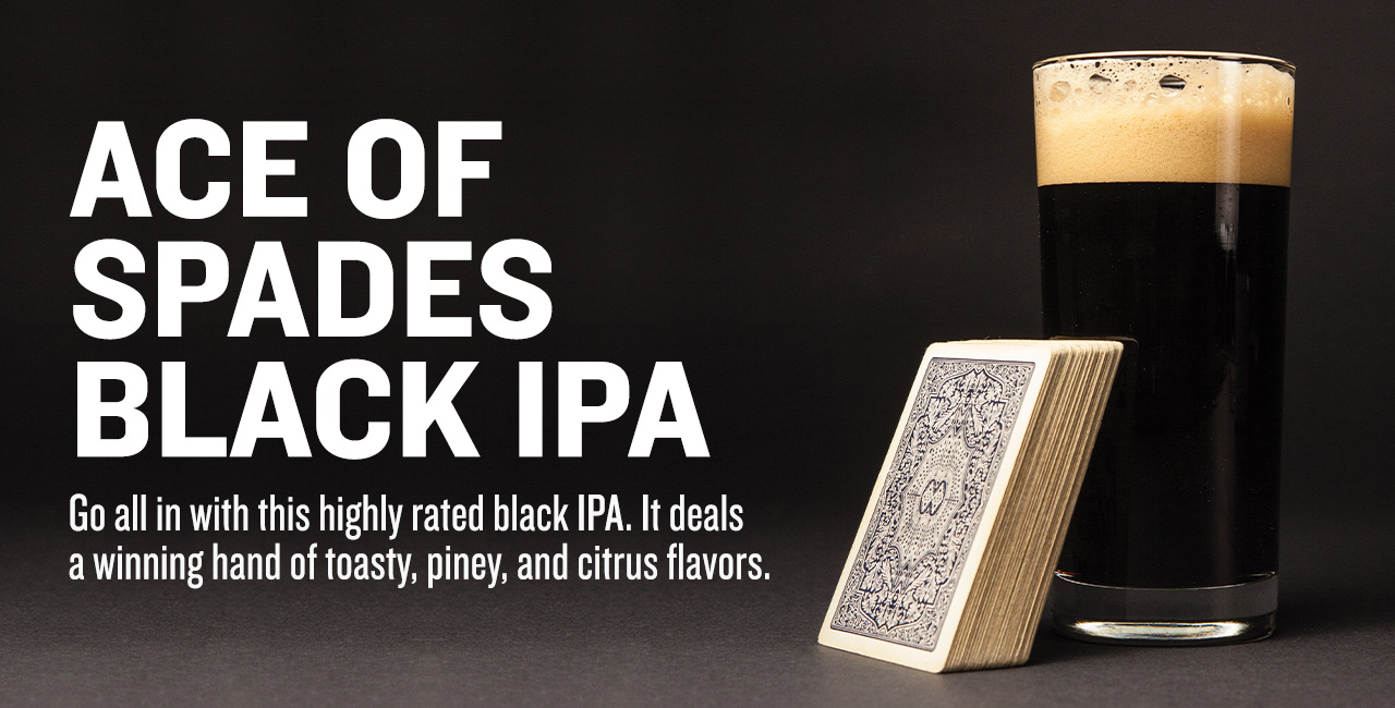 Ace of Spades Black IPA Extract Beer Recipe Kit