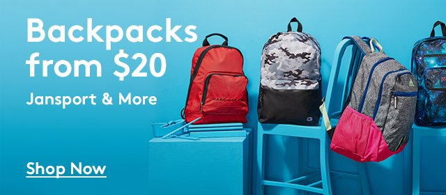 Backpacks from $20 | Jansport & More | Shop Now