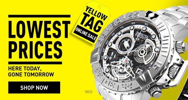 Yellow Tag Event Sale