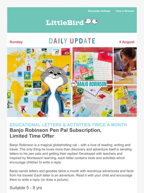 Little Bird: 🌍 Globetrotting with your Child's new Pen Pal