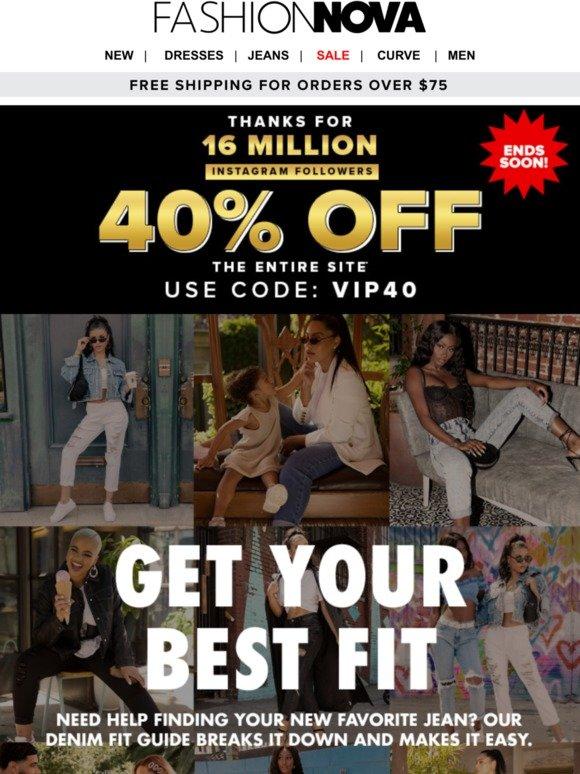 fashion nova promo code august 2020