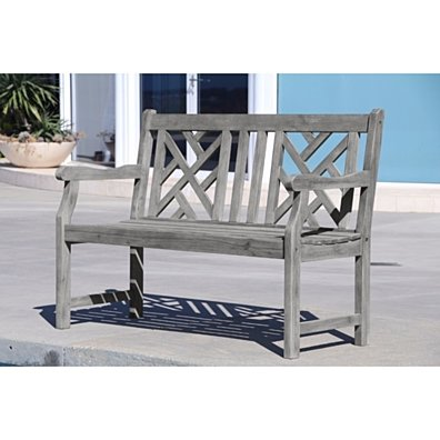 Renaissance Eco-friendly 4-foot Outdoor Hand-scraped Hardwood Garden Bench V1624