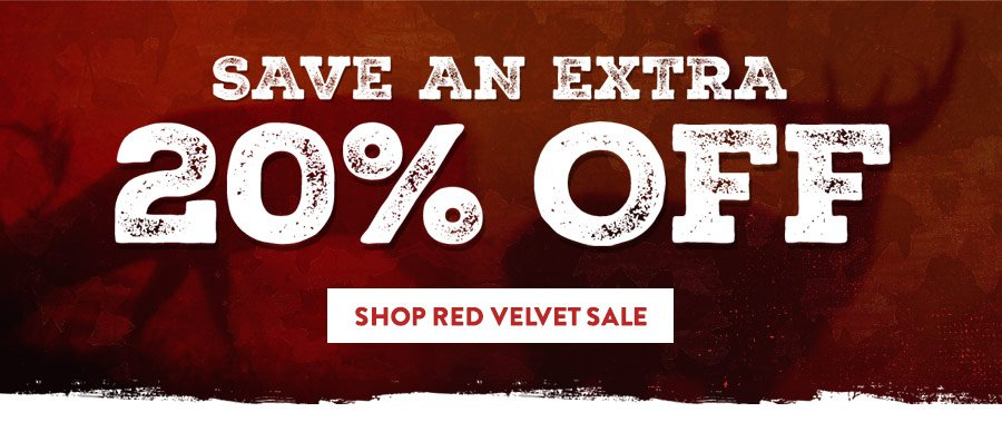 8th Annual Red Velvet Sale = Extra 20% Off
