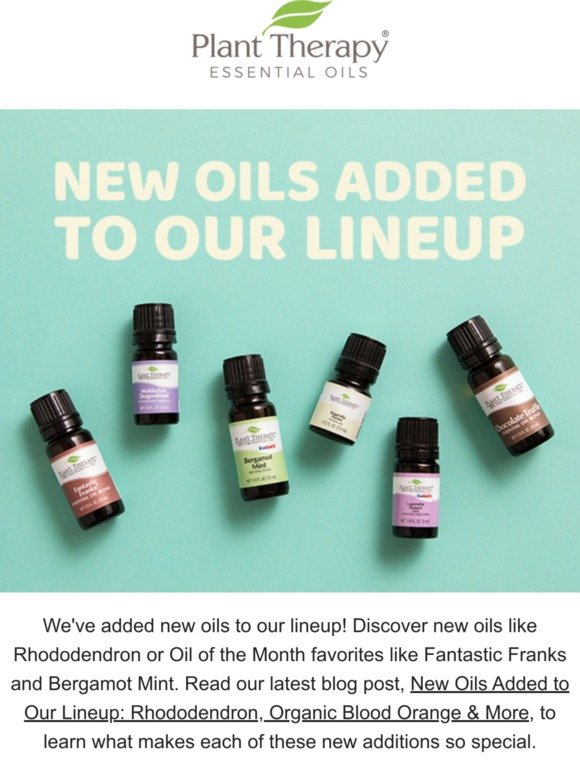 Plant Therapy: 📢Have you heard? We got NEW oils! | Milled