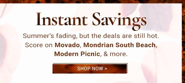 15% Off Movado Watches ★ 25% Off Mondrian South Beach ★ 50% Off Modern Picnic Lunch Bags