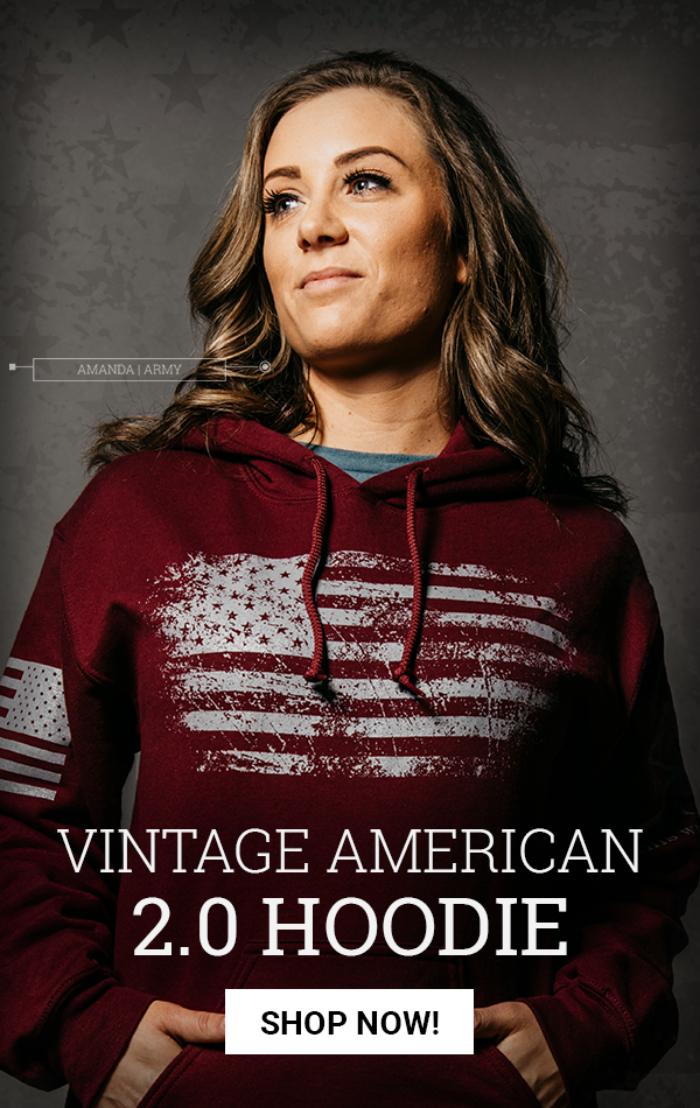 Grunt Style Vintage American 2.0 Mens Hoodie