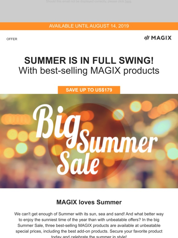 MAGIX Software: 🌞The Summer Sale including Movie Edit Pro