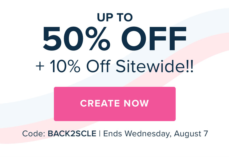 Mixbook | Extended: Back to School Sale! Up to 50% Off + 10% Off Everything with code BACK2SCLE.