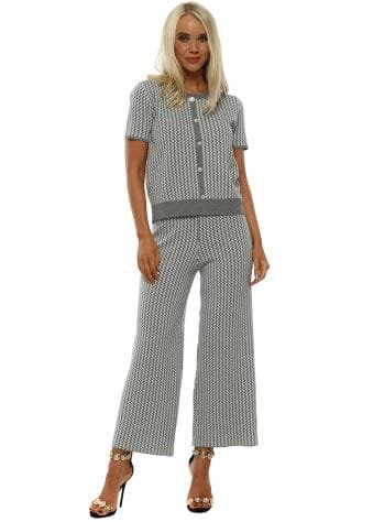 Grey Zig-Zag Knitted Co-Ord Set
