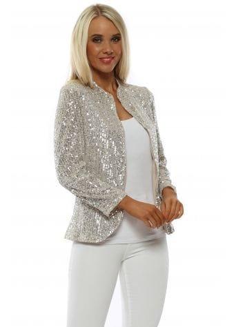 Silver Sequinned Short Jacket